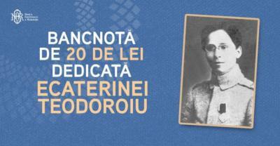Prima femeie pe o bancnota romaneasca va fi Ecaterina Teodoroiu