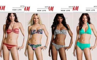 Frumusete redefinita sau gafa ieftina? H&M prefera trupurile feminine virtuale, dar le lipeste chipuri reale