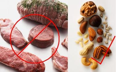 Carnea rosie creste riscul de diabet. Ce alte surse de proteine mai exista in afara de carnea rosie?