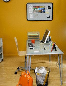 Aranjarea mobilierului de birou si a computerului, pentru eficientizarea muncii