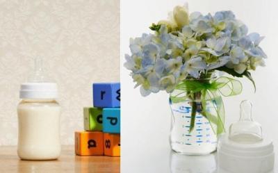 Aranjamente florale in... biberoane