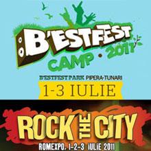 Distractie la inceput de iulie: Rock the City & B'estfest 2011