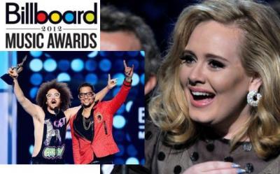 Adele si LMFAO, marii castigatori ai Billboard Music Awards 2012