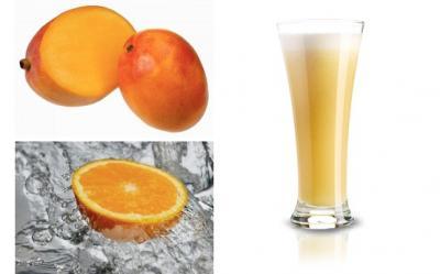 Smoothie cu mango, menta si iaurt