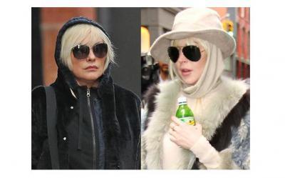 Ce patesti cand nu arati de varsta ta. Lindsay Lohan (25 de ani) a fost confundata cu Debbie Harry (66 de ani)