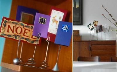 DIY: Decoratiuni de Craciun cu felicitari