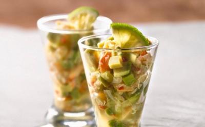 Salata de avocado, papaya si menta