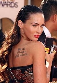 Tatuajele celebritatilor - mesaje pentru fani si mass-media