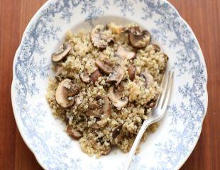 Reteta pentru sanatate: Quinoa cu ciuperci
