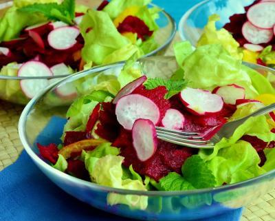 Salata de primavara cu leurda si ridichii