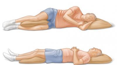 poziția de dormit pentru pierderea de grăsimi