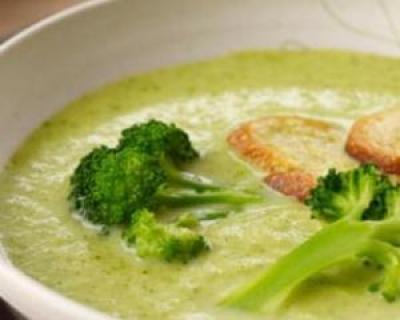 Supa crema de brocoli si conopida