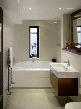Amenajare baie in culori deschise