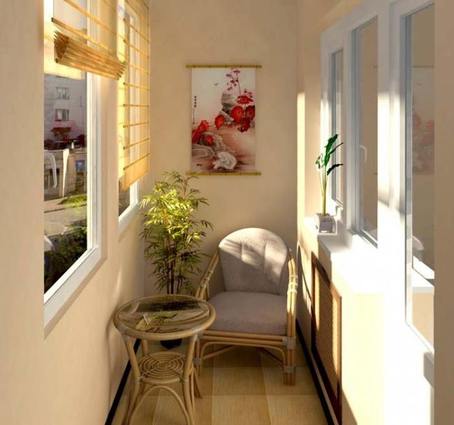Idei pentru amenajarea balconului cu masuta si fotoliu