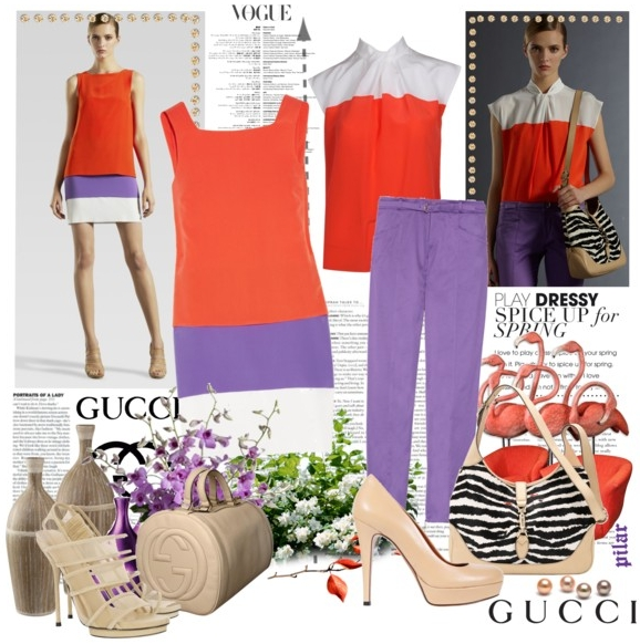 Color blocking surprins de revista Vogue