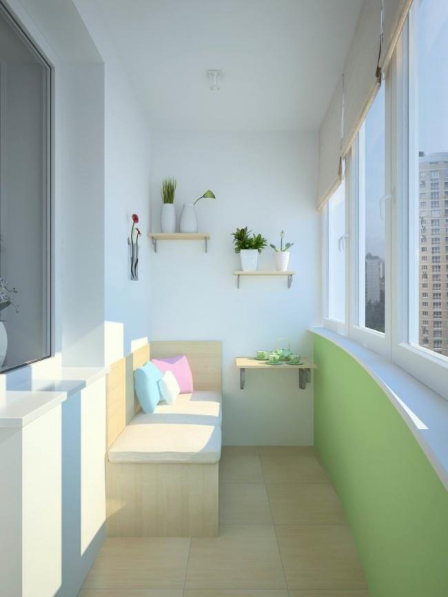 Amenajare simpla a unui balcon