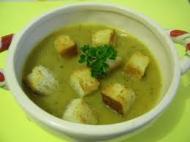 Supa crema de varza de Bruxelles cu crutoane