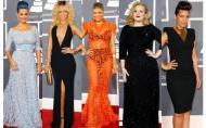 Ce au imbracat vedetele pe covorul rosu de la Premiile Grammy 2012 - vezi galeria foto