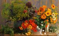 Aranjarea florilor in vase decorative. Combinatii de flori si notiuni de baza