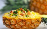 Salata cu ananas, orez si iaurt