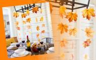 Decoratiuni de toamna DIY. Ghirlanda cu frunze uscate pentru... lampa