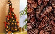 DIY Decoratiuni de Craciun: Brad din conuri