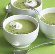 Supa crema de mazare si spanac