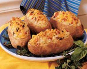 Cartofi copti cu smantana si ciuperci