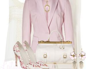 Cum purtam hainele in nuante de roz pudrat pentru a obtine un look diafan si feminin