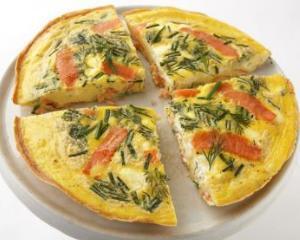 Frittata cu somon: o reteta speciala pentru micul dejun