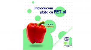 Poti cumpara legume si fructe cu PET-uri (plastic) in Romania